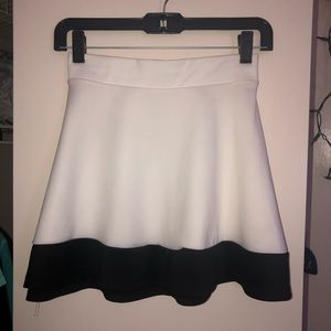 White & Black Skirt. XS. Charlotte Russe.